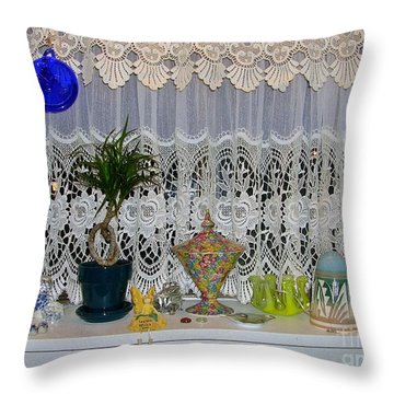 Dutch Lace Throw Pillow