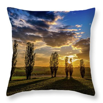 Dutch Moutains At Sunset Throw Pillow
