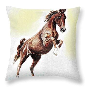 Dutch Pony Throw Pillow