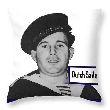 Dutch Sailor This Man Is Your Friend Throw Pillow