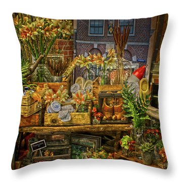 Dutch Shop Throw Pillow