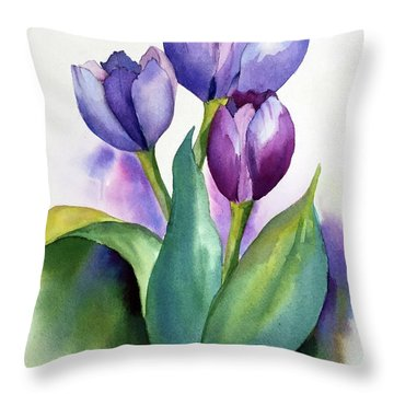 Dutch Tulips Throw Pillow