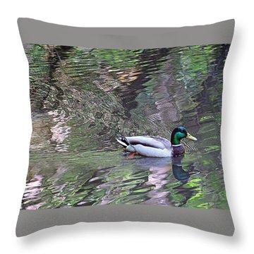 Duck Patterns Throw Pillow