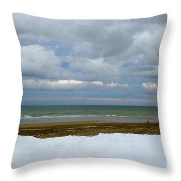 Duxbury Beach 3rd Crossover Throw Pillow by Amazing Jules