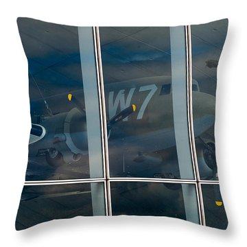 Throw Pillow featuring the photograph Duxford Dakota Daydream by Gary Eason