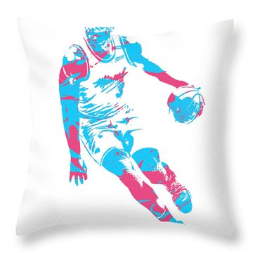 Dwyane Wade Miami Heat Pixel Art 40 Throw Pillow