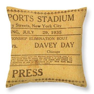 Dyckman Oval Ticket Throw Pillow