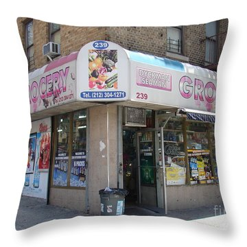 Dyckman Seaman Grocery  Throw Pillow by Cole Thompson