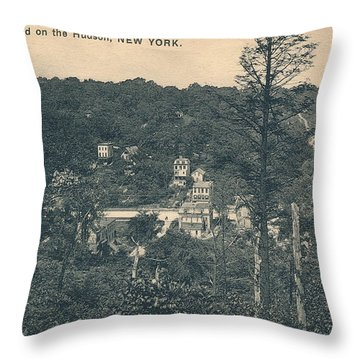 Dyckman Street At Turn Of The Century Throw Pillow