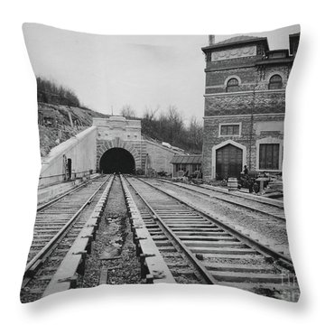 Throw Pillow featuring the photograph Dyckman Street Station by Cole Thompson