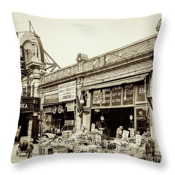 Throw Pillow featuring the photograph Dyckman Theater, 1926 by Cole Thompson