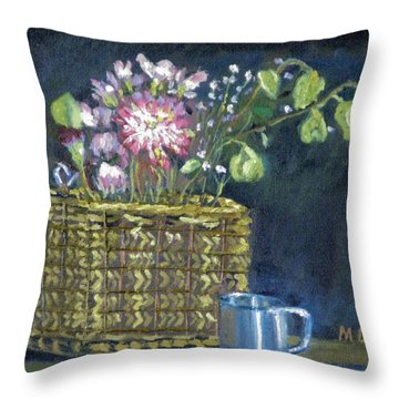 Dying Flowers Throw Pillow