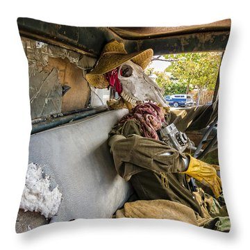 Dying For The Shot Throw Pillow by Caitlyn Grasso