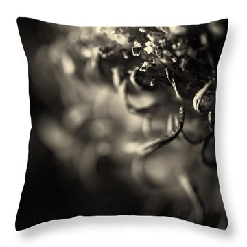Faded Chrysanthemum Flower Abstract Print Throw Pillow