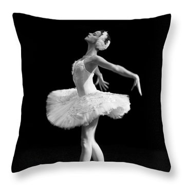 Dying Swan I Alternative Size Throw Pillow