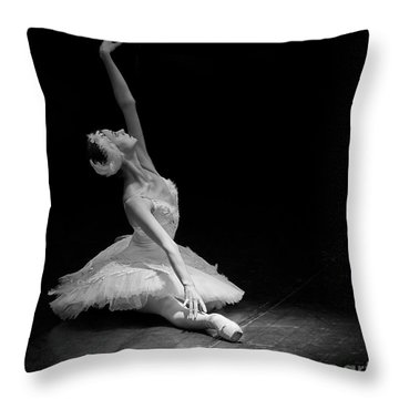 Dying Swan II. Throw Pillow