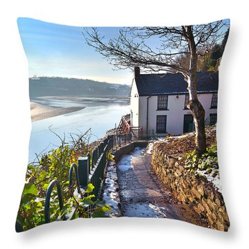 Dylan Thomas Boathouse 1 Throw Pillow