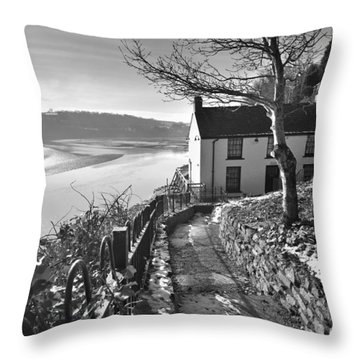 Dylan Thomas Boathouse 1b Throw Pillow