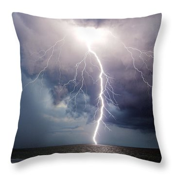 Dynamic Electricity Throw Pillow by Dan Wells
