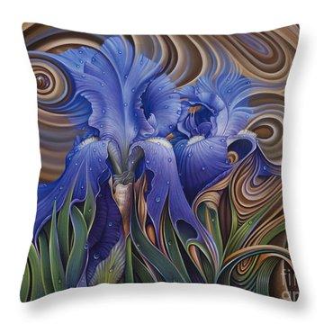 Dynamic Iris Throw Pillow
