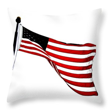 Dynamic Stars And Stripes Throw Pillow