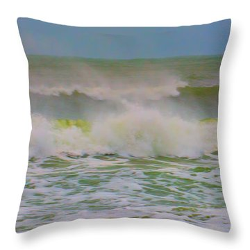 Dynamic Wave Throw Pillow