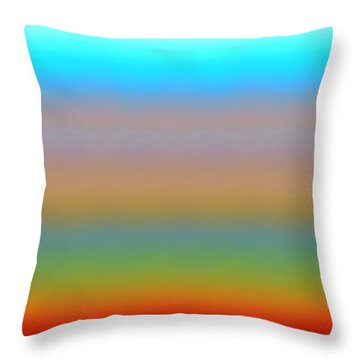 Throw Pillow featuring the digital art Dynamics-1a by Darla Wood
