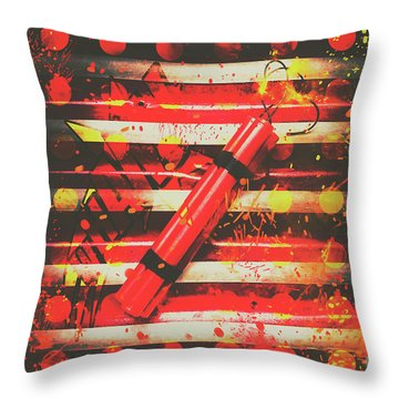 Dynamite Artwork Throw Pillow