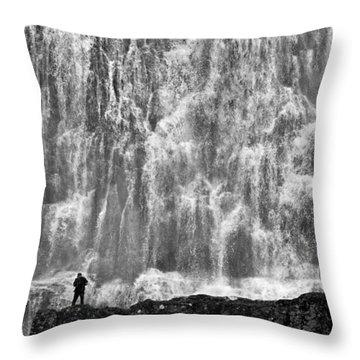 Throw Pillow featuring the photograph Dynjandi Daredevil No. 2 by Joe Bonita