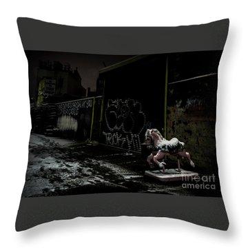 Dystopian Playground 1 Throw Pillow