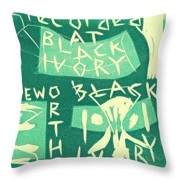 E Cd Green Throw Pillow