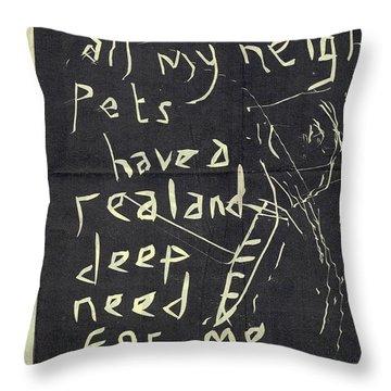E Cd Main Reverse Throw Pillow
