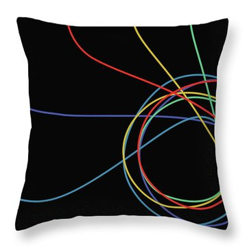 Throw Pillow featuring the digital art E Pluribus Unum by Gina Harrison