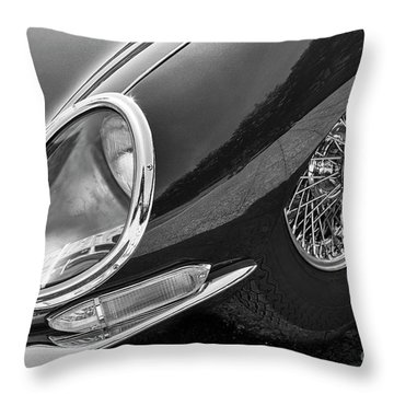 Throw Pillow featuring the photograph E-type Monotone by Dennis Hedberg
