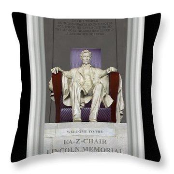 Ea-z-chair Lincoln Memorial Throw Pillow by Mike McGlothlen