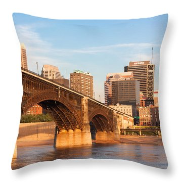 Eads Bridge At St Louis Throw Pillow by Semmick Photo