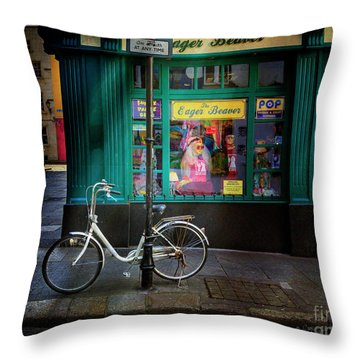 Throw Pillow featuring the photograph Eager Beaver Bicycle by Craig J Satterlee
