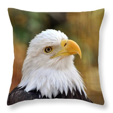 Eagle 9 Throw Pillow by Marty Koch