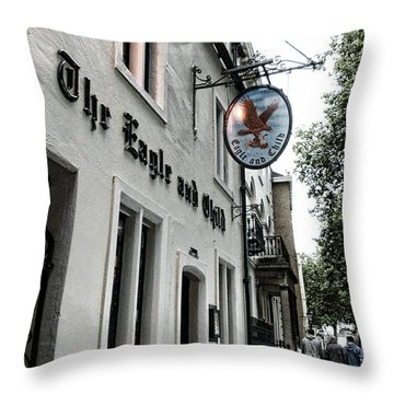 Eagle And Child Pub - Oxford Throw Pillow by Stephen Stookey