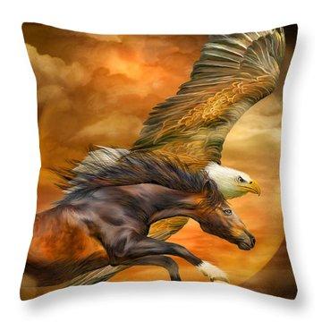 Equine Mixed Media Throw Pillows