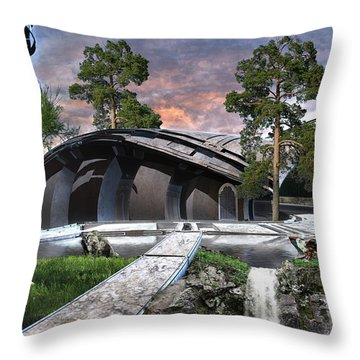 Eagle And The Wolf Throw Pillow