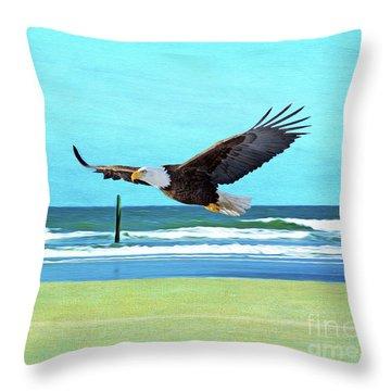 Eagle At Cumberland Throw Pillow