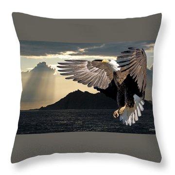 Eagle At Dawn Throw Pillow