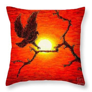 Eagle B2 Throw Pillow