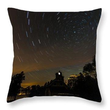 Eagle Bluff Lighthouse Throw Pillow