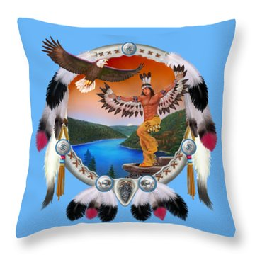 Eagle Dancer Throw Pillow by Glenn Holbrook