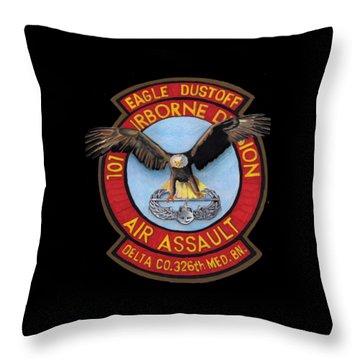 Eagle Dustoff Throw Pillow