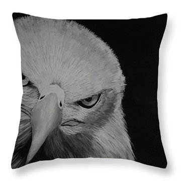 Throw Pillow featuring the painting Raptor by Edwin Alverio