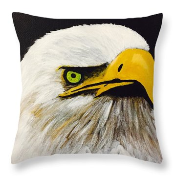 Eagle Eye Throw Pillow