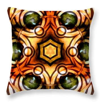Throw Pillow featuring the digital art Eagle Eye Ray by Derek Gedney